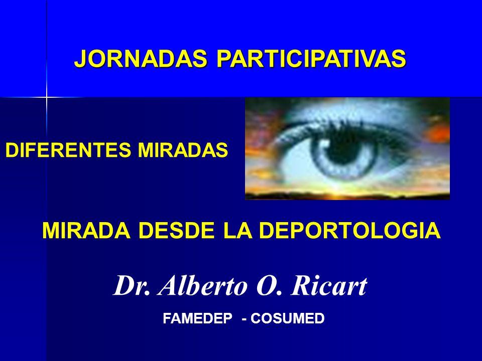 JORNADAS PARTICIPATIVAS MIRADA DESDE LA DEPORTOLOGIA