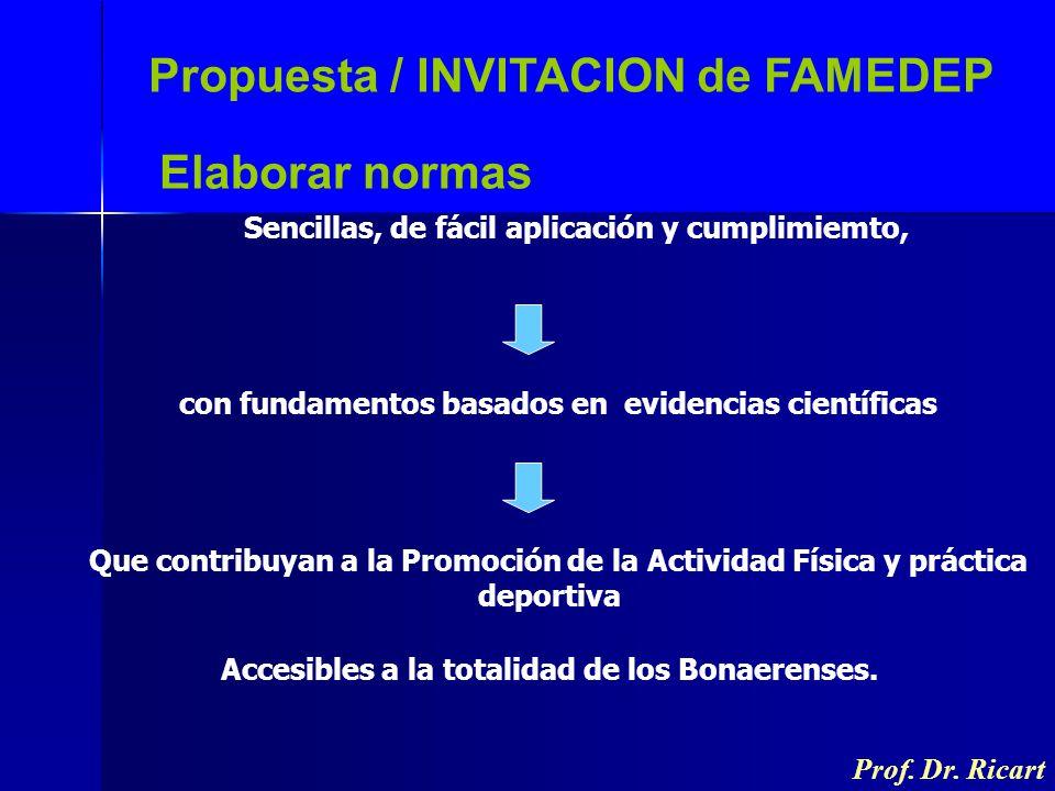 Propuesta / INVITACION de FAMEDEP Elaborar normas