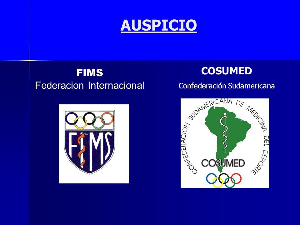 AUSPICIO FIMS COSUMED Federacion Internacional