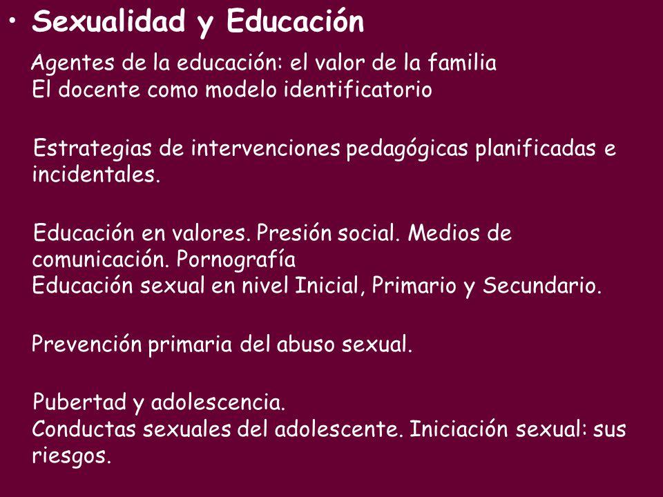 Sexualidad y Educación