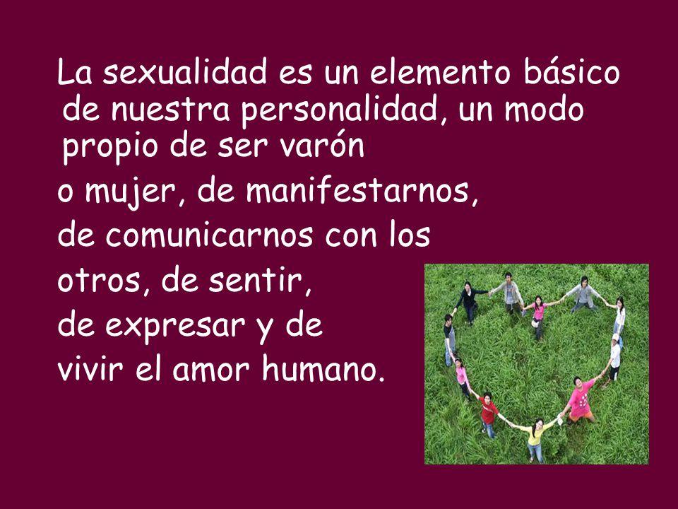 La sexualidad es un elemento básico de nuestra personalidad, un modo propio de ser varón