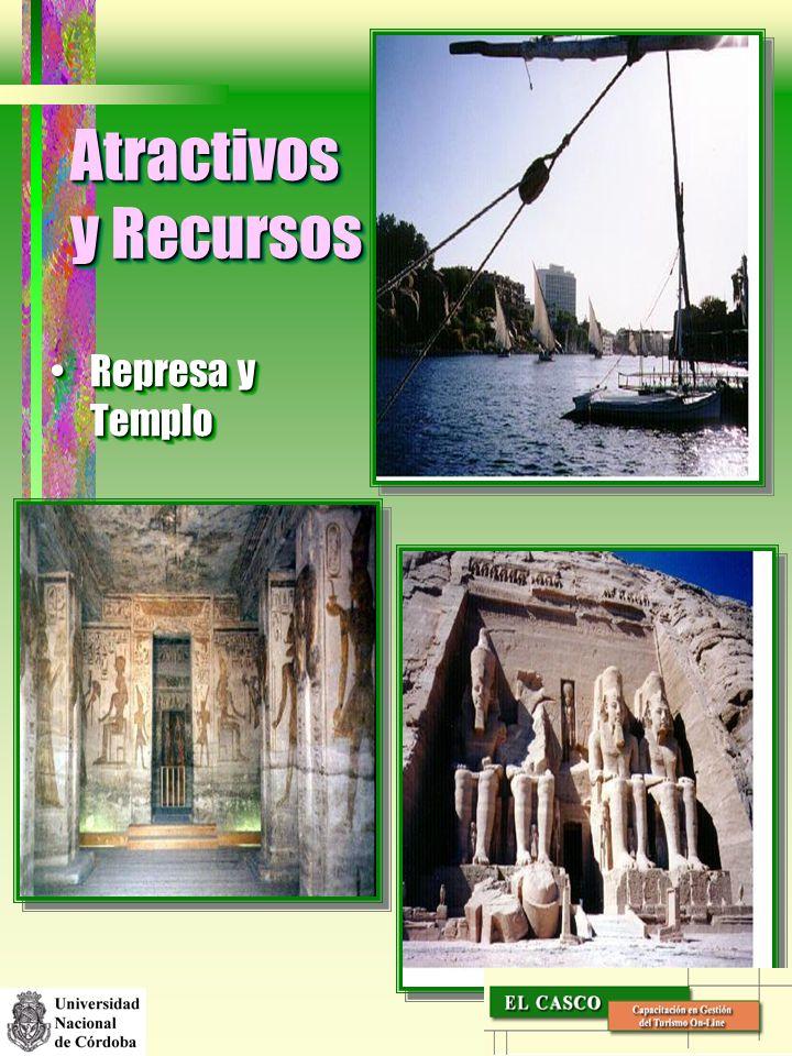 Atractivos y Recursos Represa y Templo
