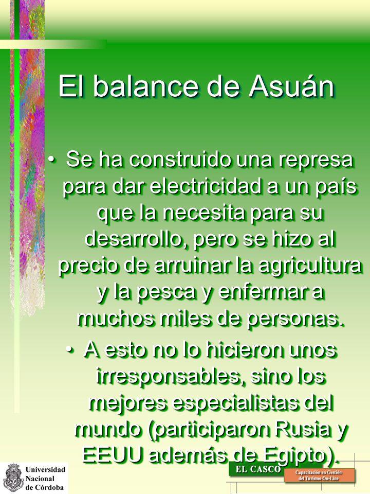 El balance de Asuán
