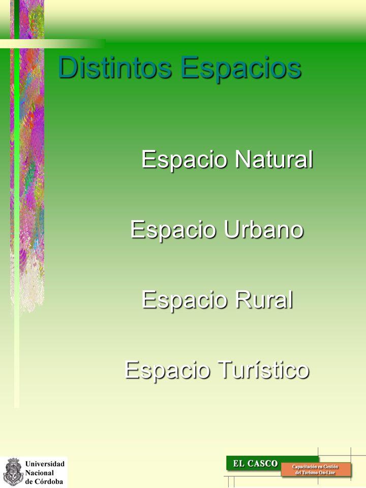 Distintos Espacios Espacio Natural Espacio Urbano Espacio Rural
