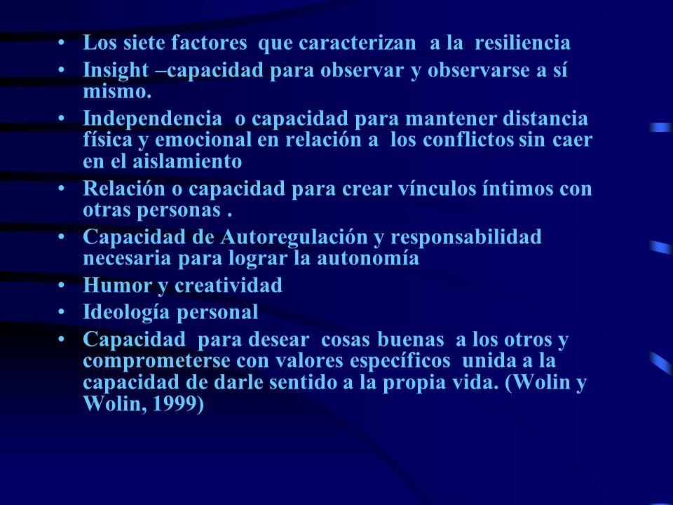 Los siete factores que caracterizan a la resiliencia