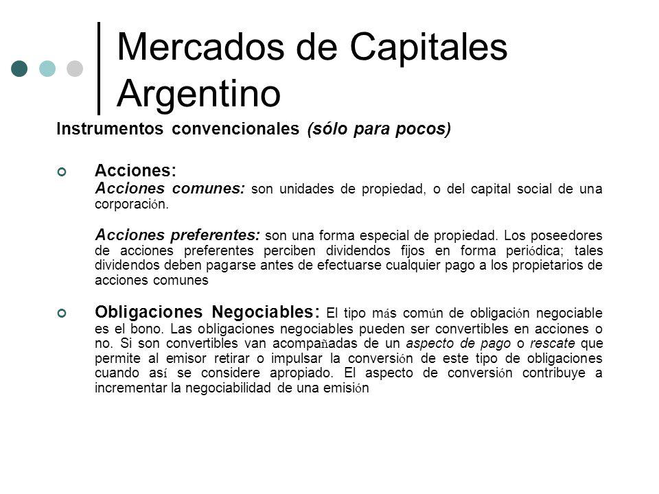 Mercados de Capitales Argentino