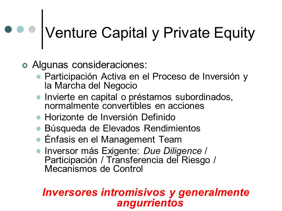 Venture Capital y Private Equity