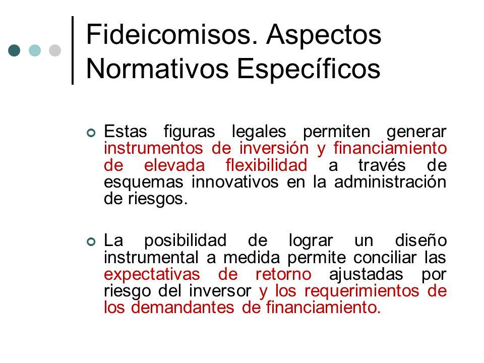 Fideicomisos. Aspectos Normativos Específicos