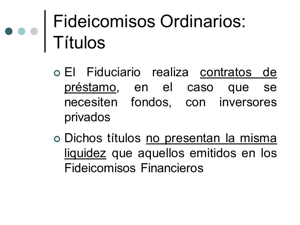 Fideicomisos Ordinarios: Títulos