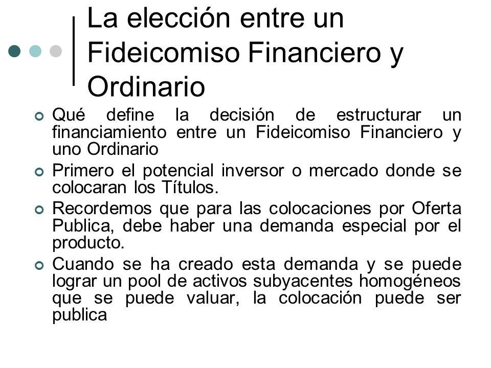 La elección entre un Fideicomiso Financiero y Ordinario
