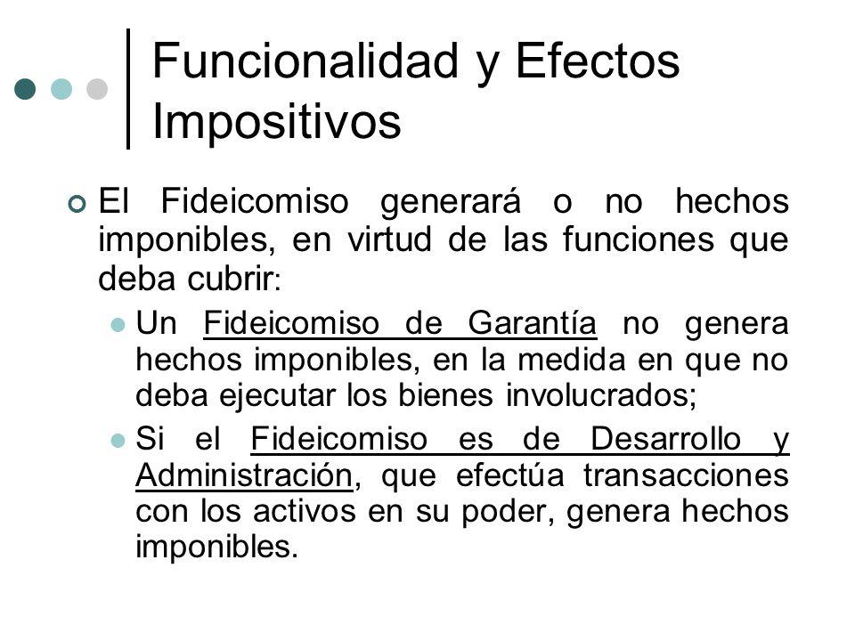 Funcionalidad y Efectos Impositivos