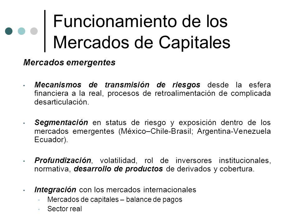 Funcionamiento de los Mercados de Capitales
