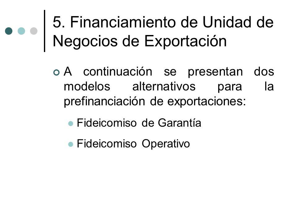 5. Financiamiento de Unidad de Negocios de Exportación