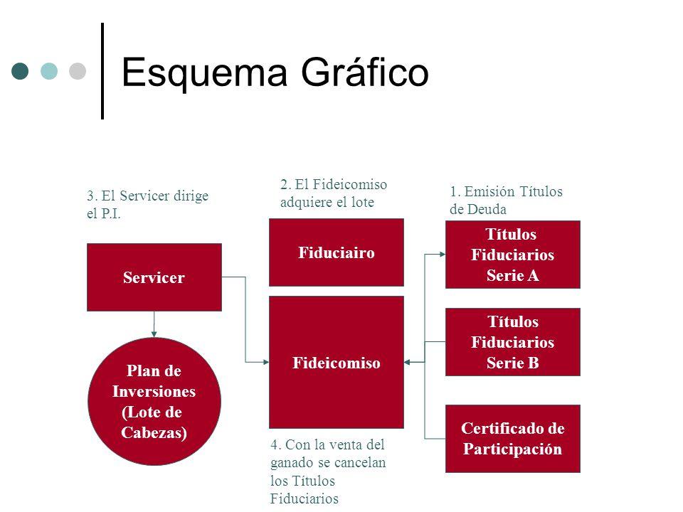 Esquema Gráfico Títulos Fiduciairo Fiduciarios Serie A Servicer
