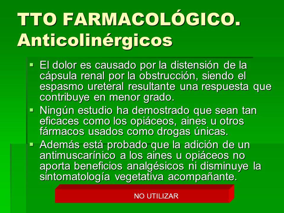 TTO FARMACOLÓGICO. Anticolinérgicos