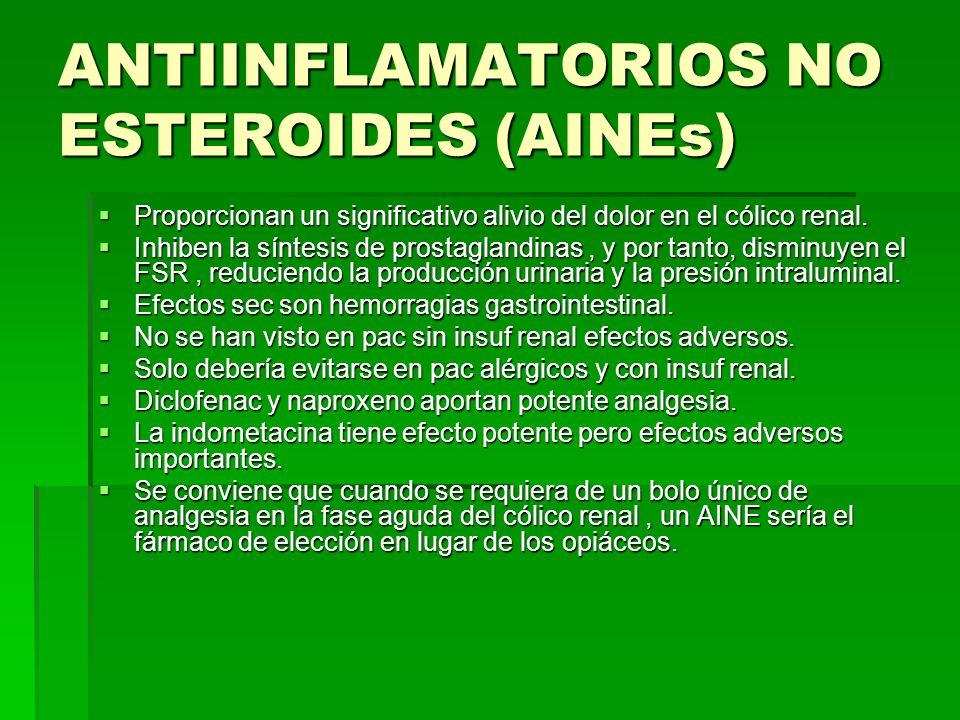 ANTIINFLAMATORIOS NO ESTEROIDES (AINEs)