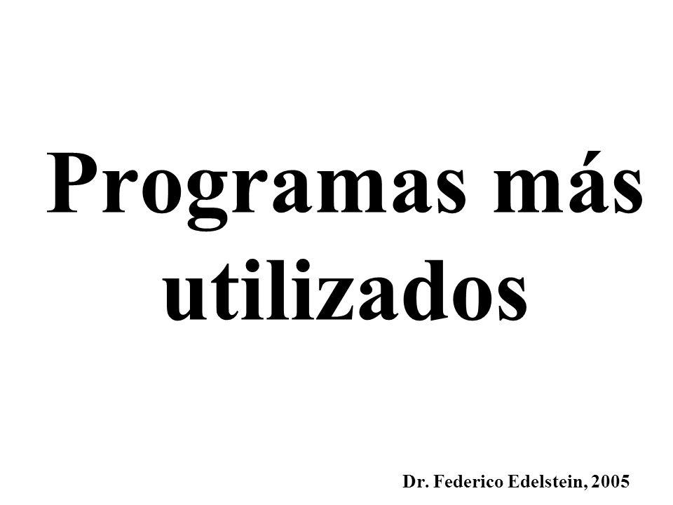 Programas más utilizados