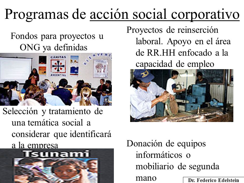 Programas de acción social corporativo