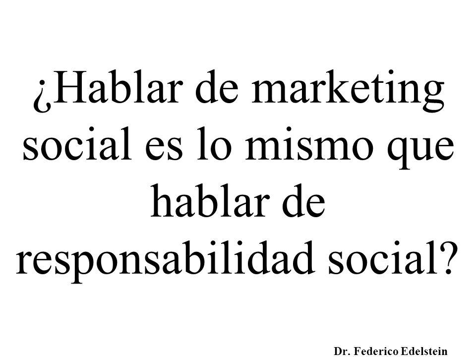 ¿Hablar de marketing social es lo mismo que hablar de responsabilidad social