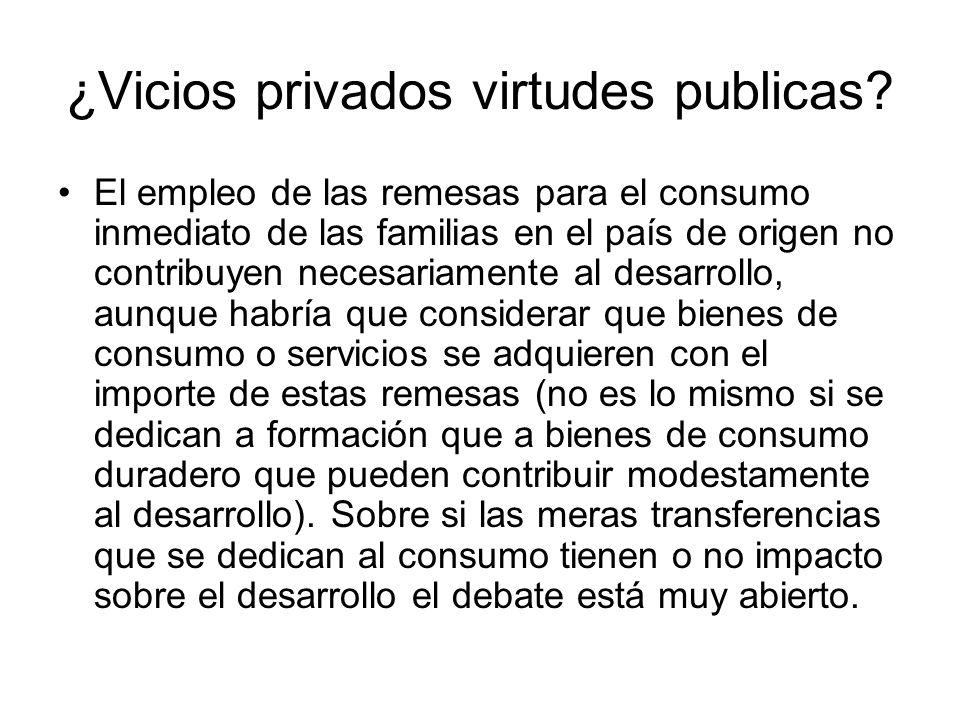 ¿Vicios privados virtudes publicas