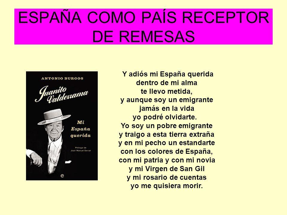 ESPAÑA COMO PAÍS RECEPTOR DE REMESAS