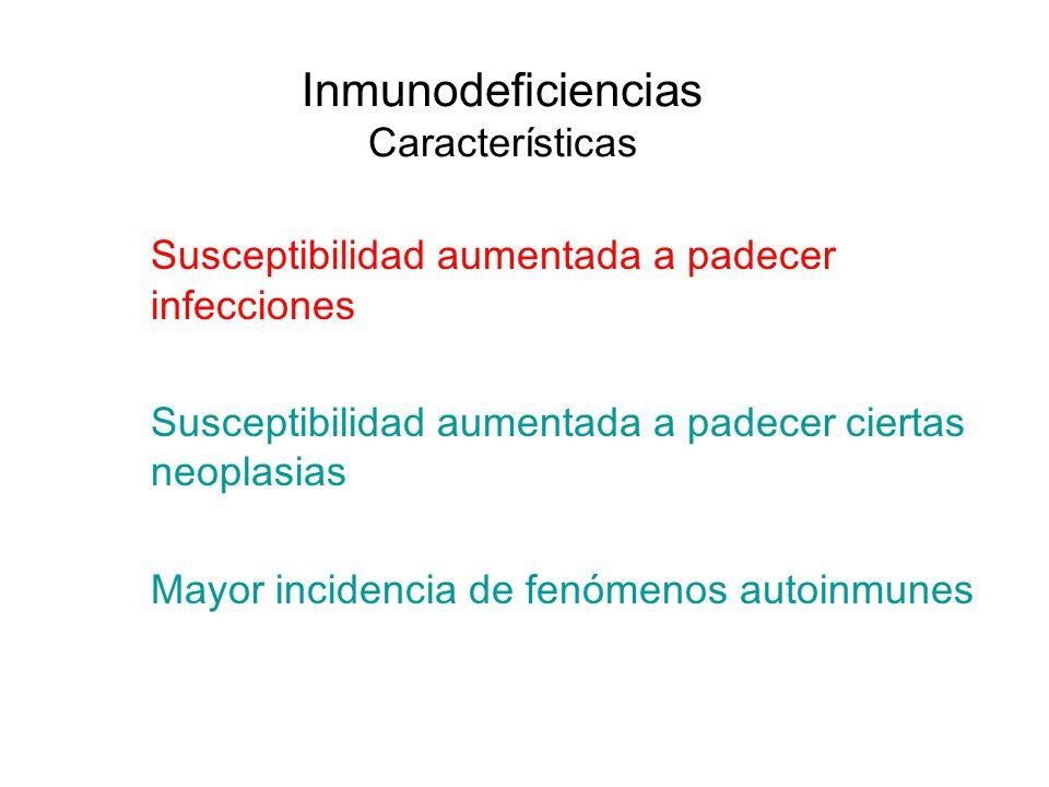 Inmunodeficiencias Características