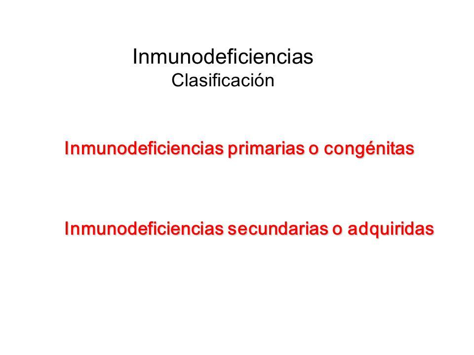 Inmunodeficiencias Clasificación