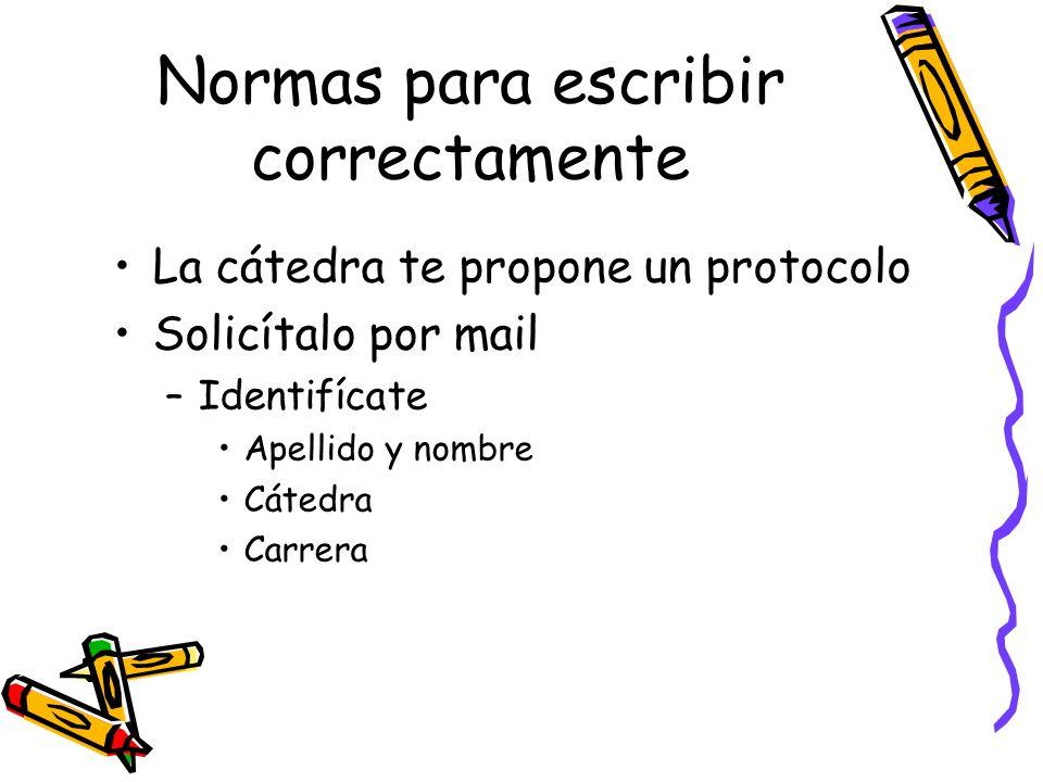 Normas para escribir correctamente