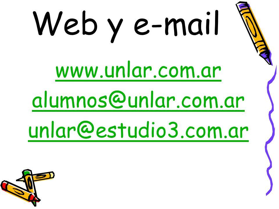 Web y e-mail www.unlar.com.ar alumnos@unlar.com.ar