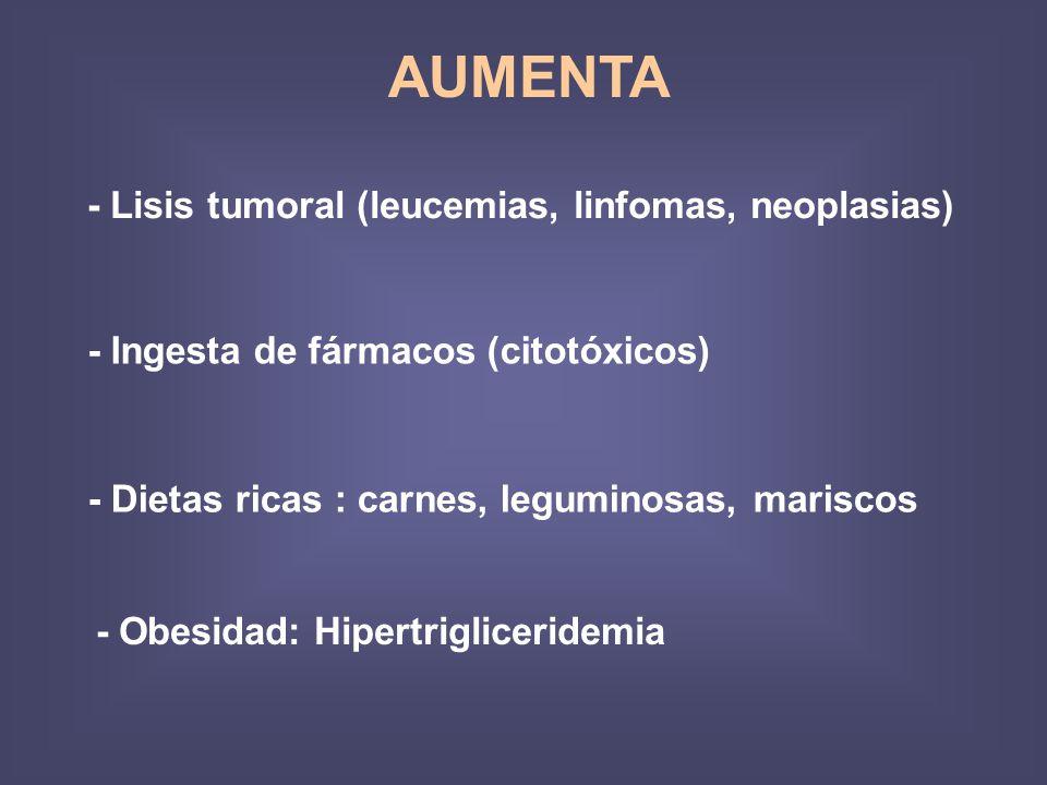 AUMENTA - Lisis tumoral (leucemias, linfomas, neoplasias)