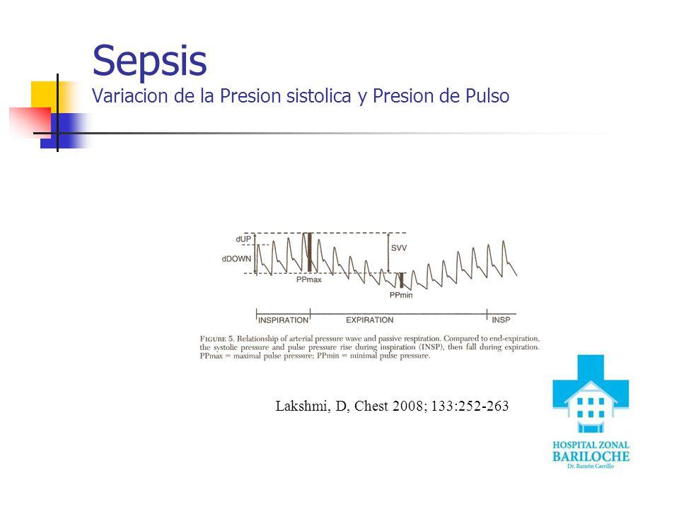 Sepsis Variacion de la Presion sistolica y Presion de Pulso