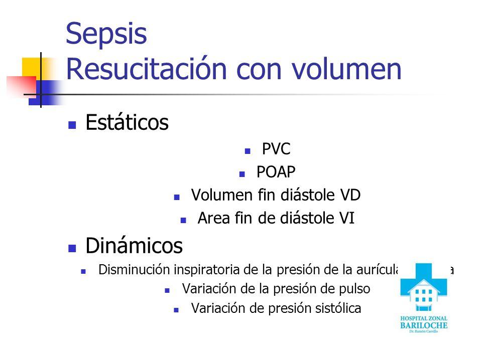 Sepsis Resucitación con volumen