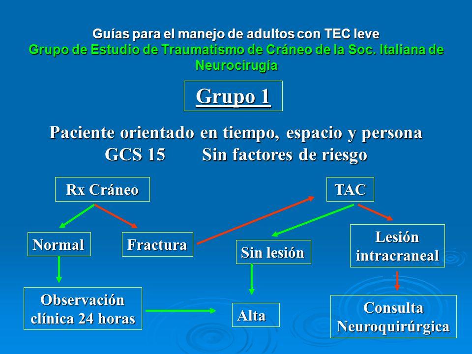 Observación clínica 24 horas Consulta Neuroquirúrgica
