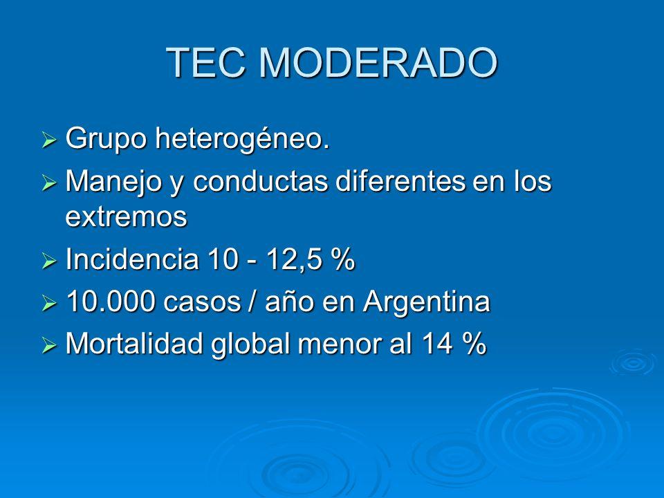 TEC MODERADO Grupo heterogéneo.