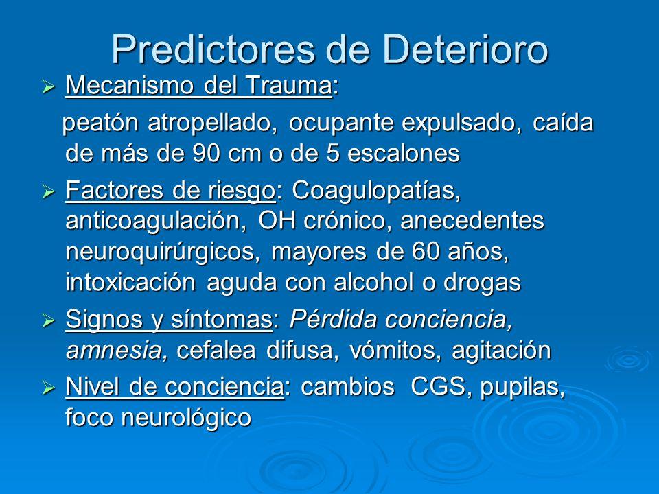 Predictores de Deterioro