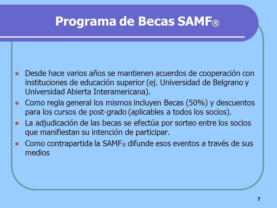 Programa de Becas SAMF®