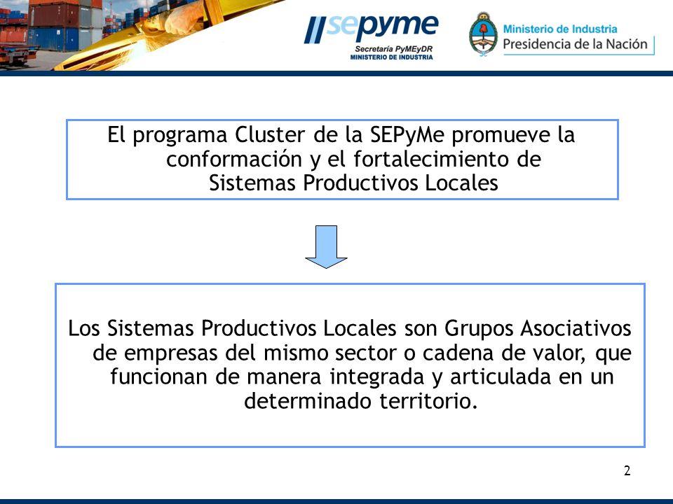 El programa Cluster de la SEPyMe promueve la conformación y el fortalecimiento de Sistemas Productivos Locales