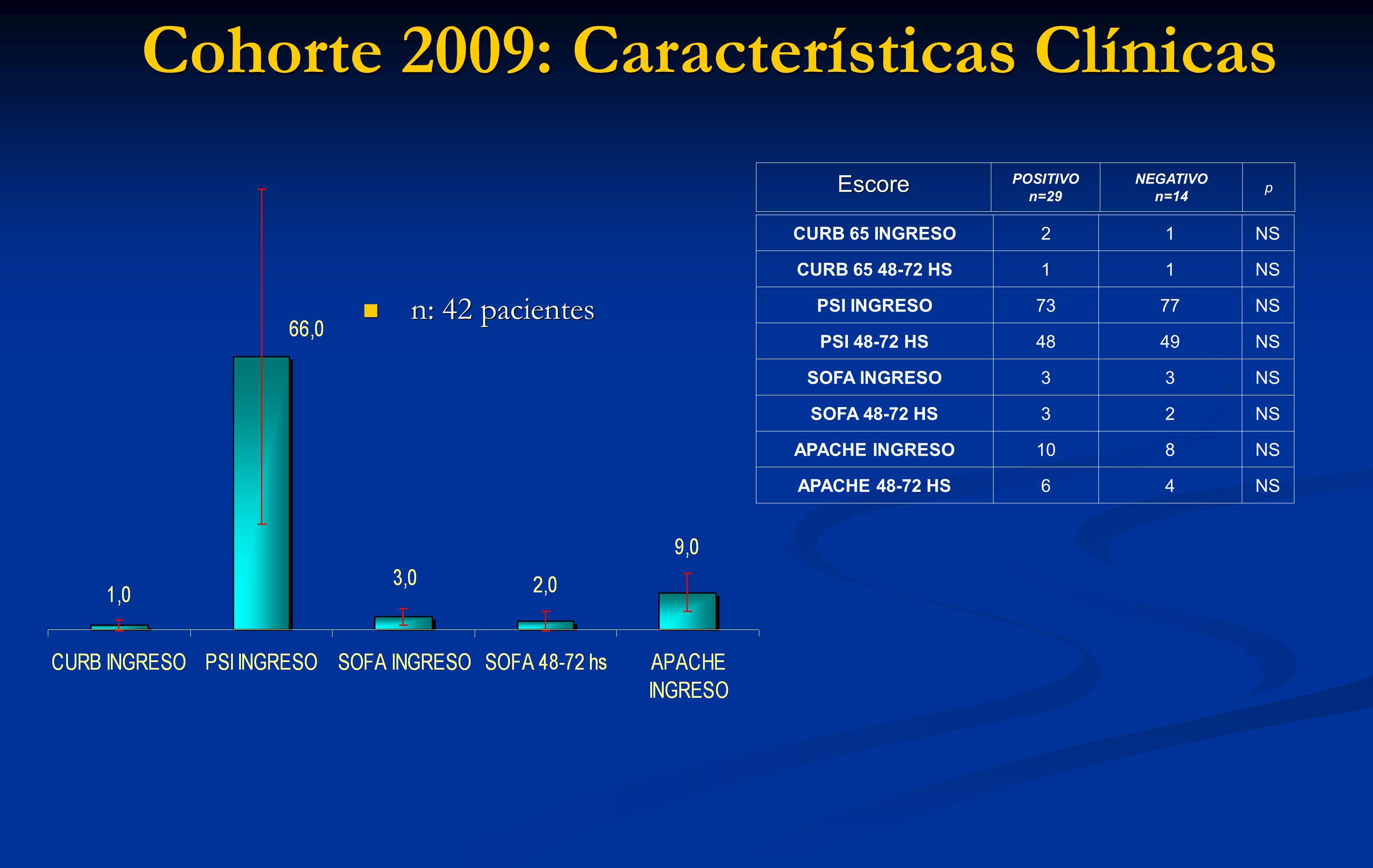 Cohorte 2009: Características Clínicas