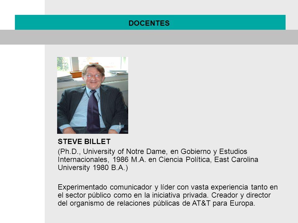 DOCENTES STEVE BILLET.