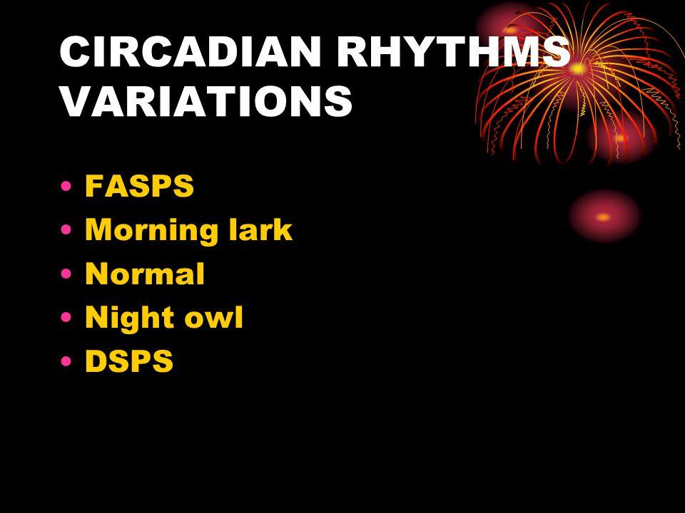 CIRCADIAN RHYTHMS VARIATIONS