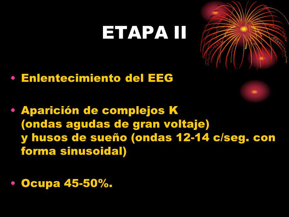 ETAPA II Enlentecimiento del EEG