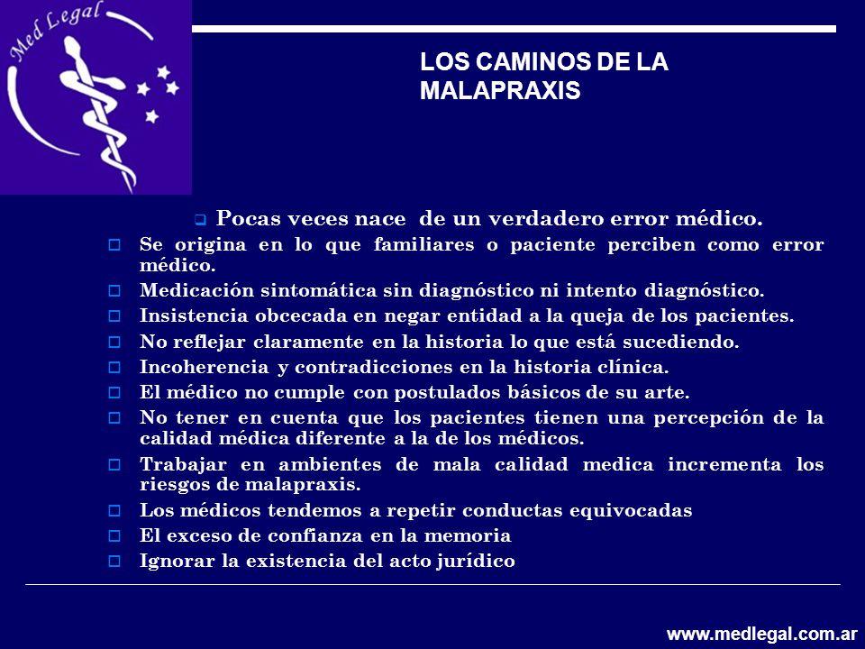 LOS CAMINOS DE LA MALAPRAXIS