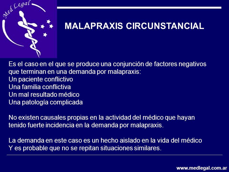 MALAPRAXIS CIRCUNSTANCIAL