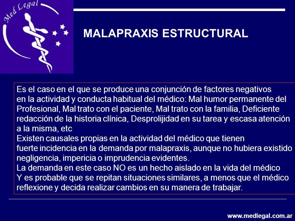 MALAPRAXIS ESTRUCTURAL