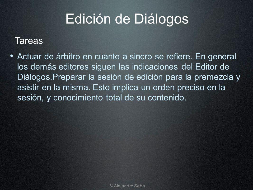 Edición de Diálogos Tareas