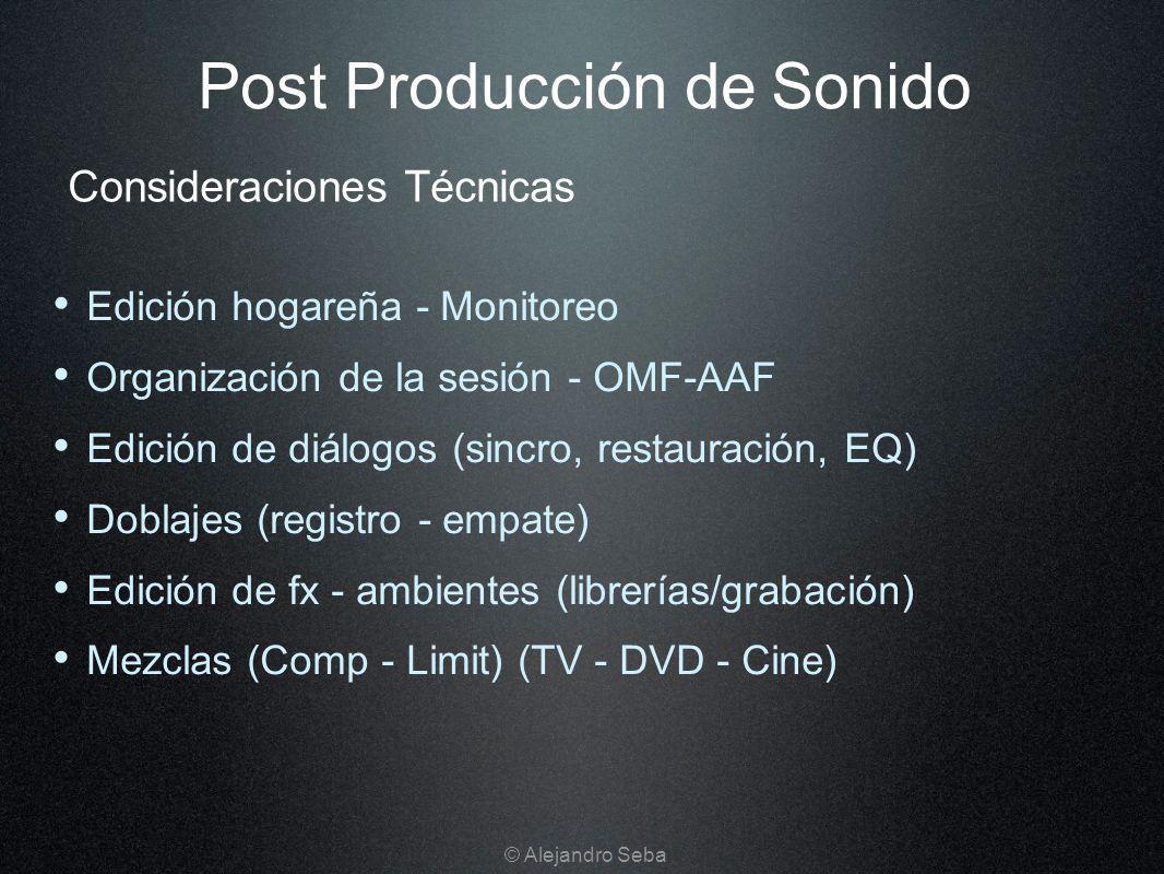 Post Producción de Sonido