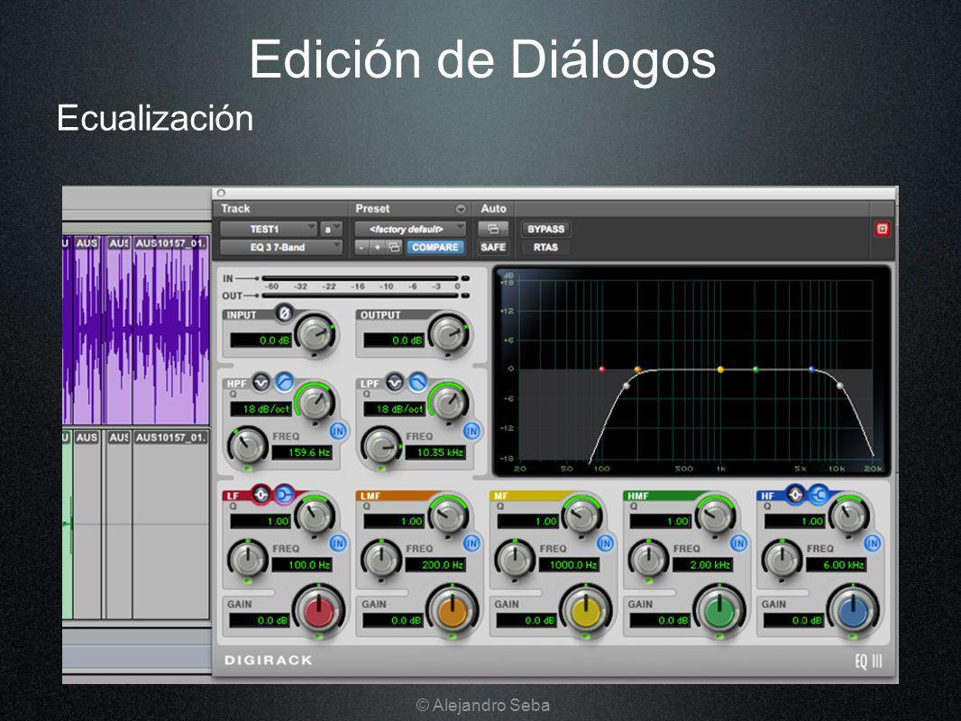Edición de Diálogos Ecualización © Alejandro Seba
