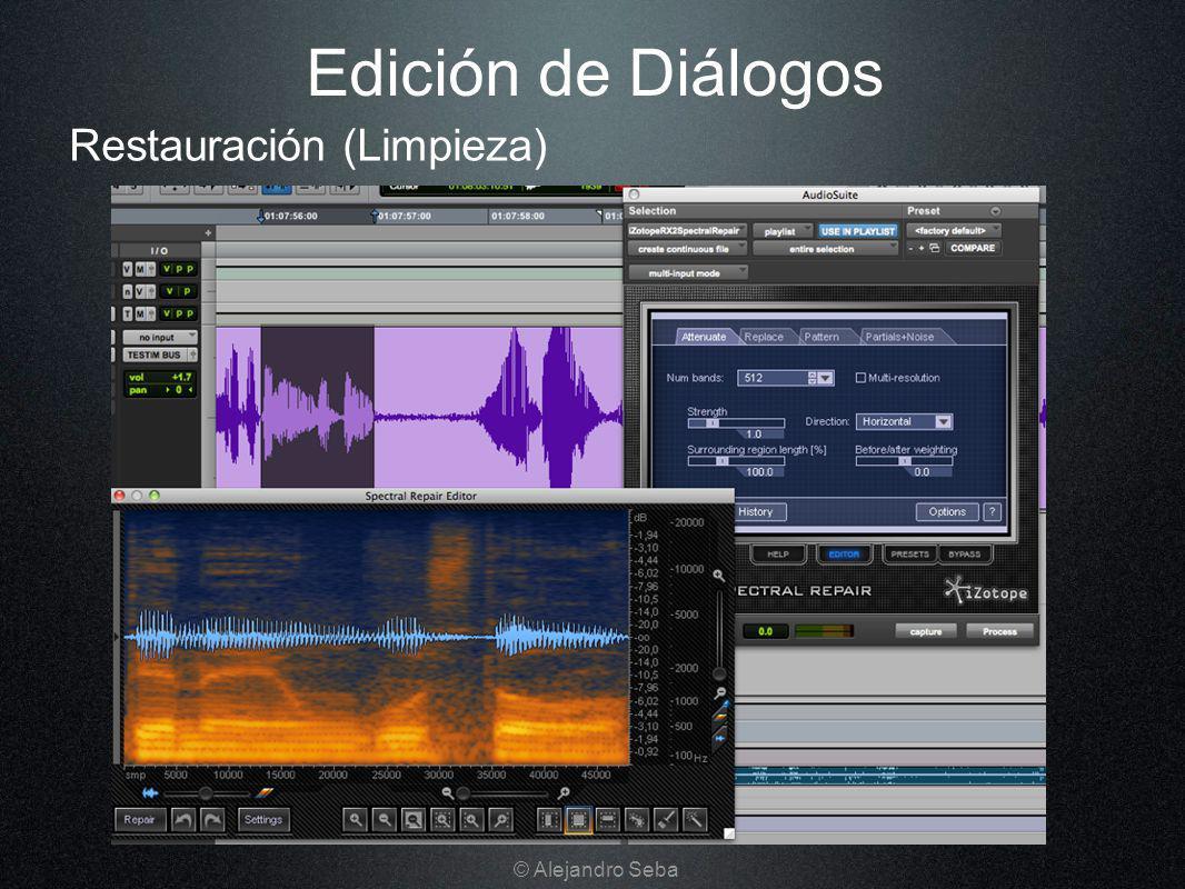 Edición de Diálogos Restauración (Limpieza) © Alejandro Seba