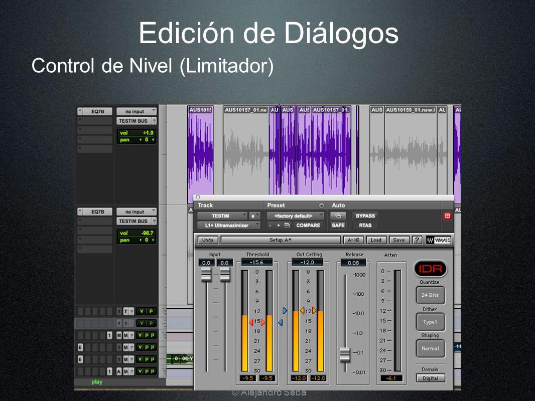 Edición de Diálogos Control de Nivel (Limitador) © Alejandro Seba