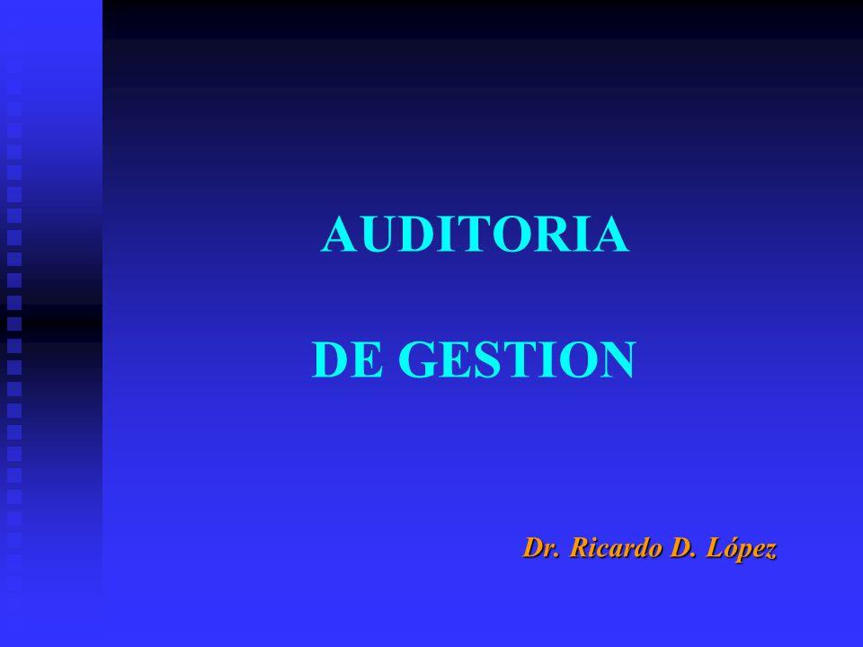 AUDITORIA DE GESTION Dr. Ricardo D. López